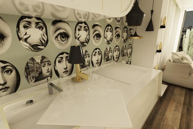 white gold kitchen fornasseti