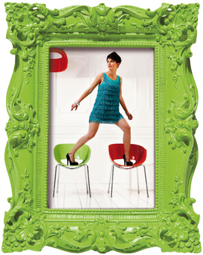 green frame shocking barock