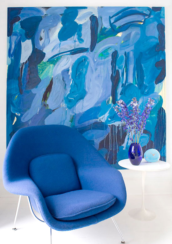 blue chair decoration idea
