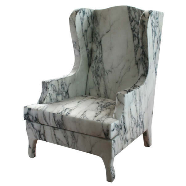 Soft Marble Armchair by Maurizio Galante2