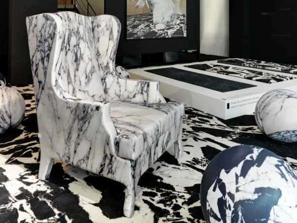 Soft Marble Armchair by Maurizio Galante3