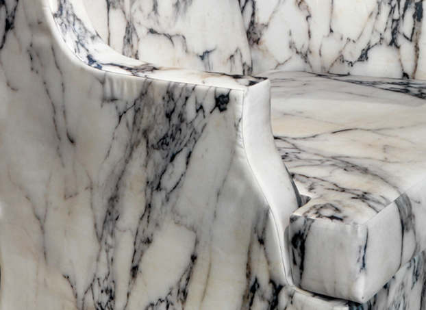 Soft Marble Armchair by Maurizio Galante4