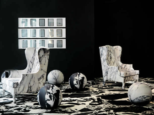 Soft Marble Armchair by Maurizio Galante