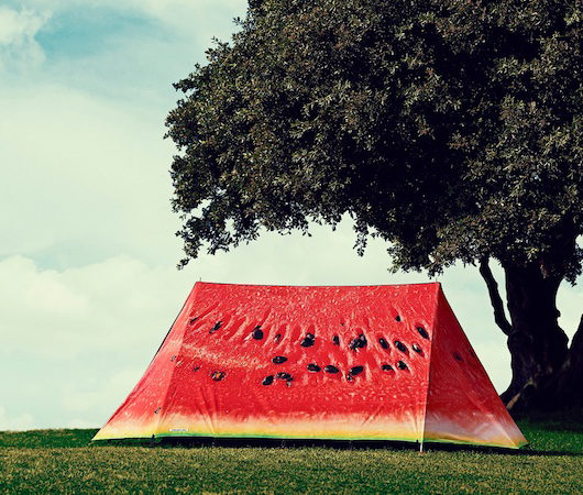 Tent 'what a melon' by Luke Bonner