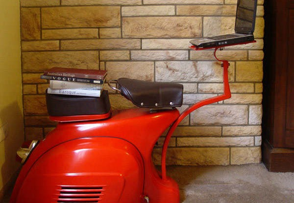 A 1968 Vespa – A Functional Work Station