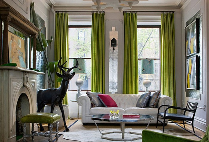... Chartreuse Green Decorating Interior Design Ideas Living Room