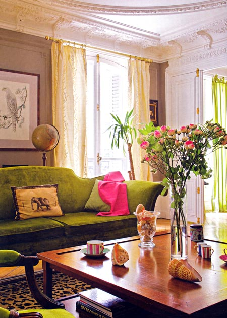 Interior Design Ideas For Living Rooms: Chartreuse Living Rooms
