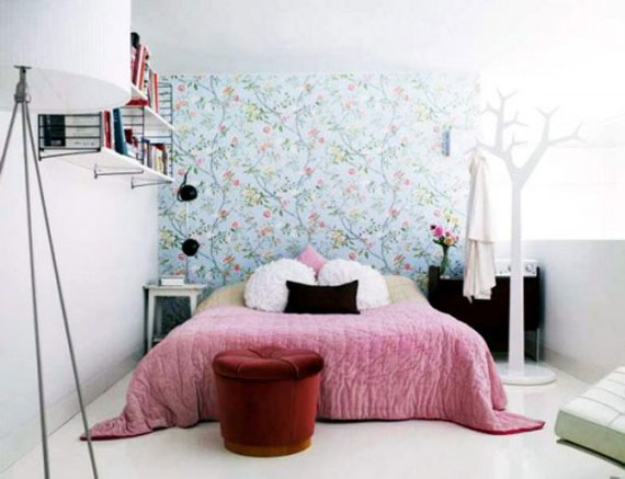 colorful bedroom wall decorating design