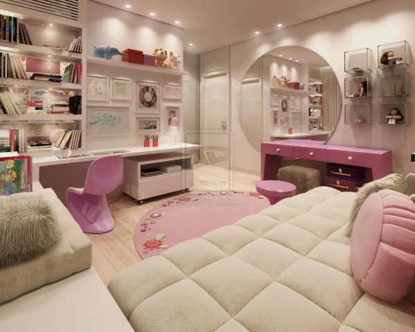 30 dream interior design ideas for teenage girl 39 s rooms - Small room ideas for teenage girl ...