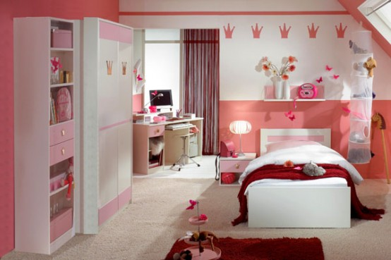 white interior design ideas for small teenage girls room