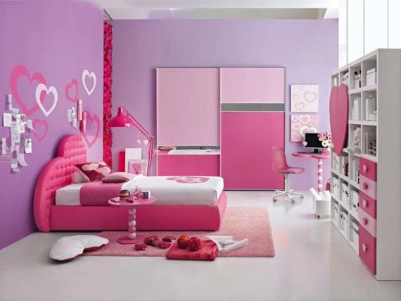 Perfect Pink And Purple Dream Interior Design Ideas For Small Teenage Girls Room