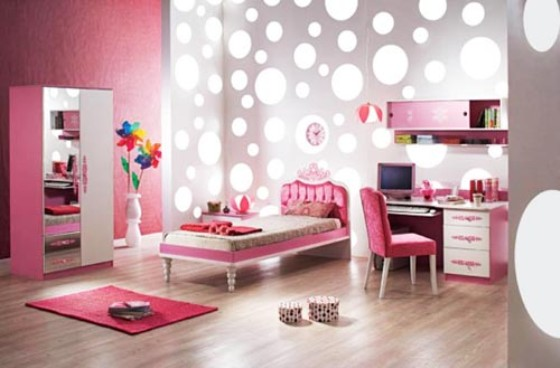 Beautiful Light Pink Dream Interior Design Ideas For Small Teenage Girls Room