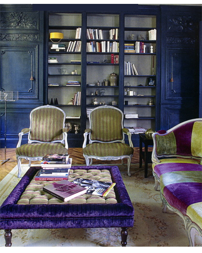 french deep blue living room decorating ideas