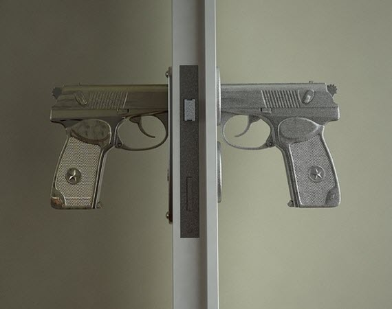 Pistol Door Handle by Nikita Kovalev 1