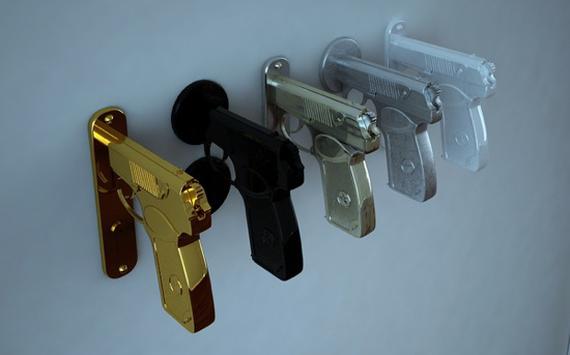 Pistol Door Handle by Nikita Kovalev 2