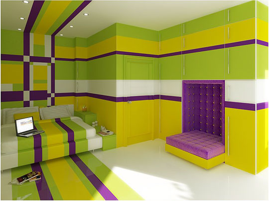 lime and purple bedroom 2