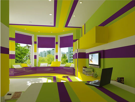 lime and purple bedroom decoholic