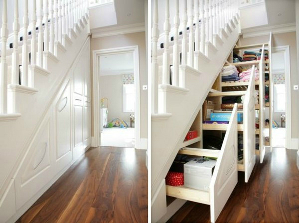 tips for the space under the stairs decoholic. Black Bedroom Furniture Sets. Home Design Ideas