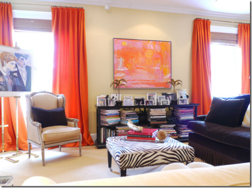 tangerine living room design ideas