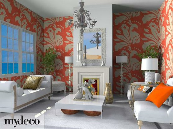 tangerine living room 2 ideas