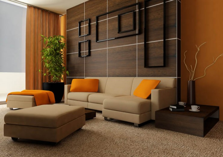 tangerine living room 3 ideas