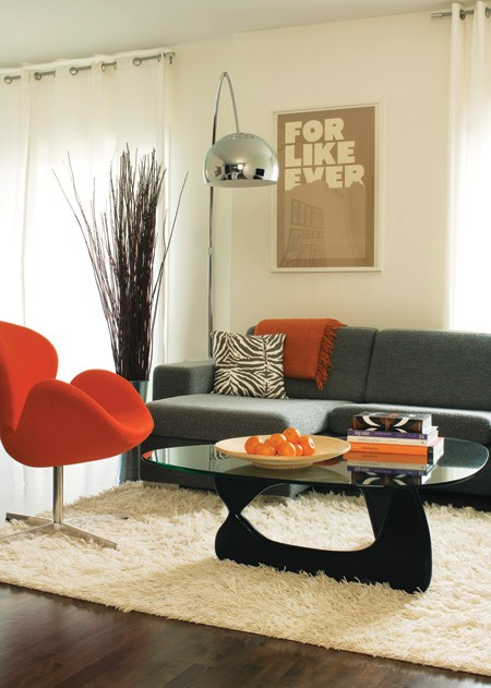 tangerine living room 4 ideas