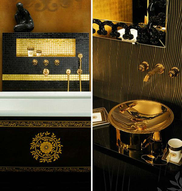 Luxury Black and Gold Bathrooms 7