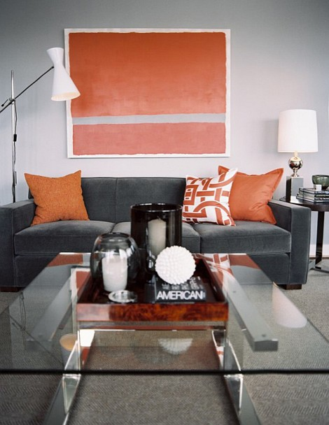 gray titanium tangerine living room 15 ideas