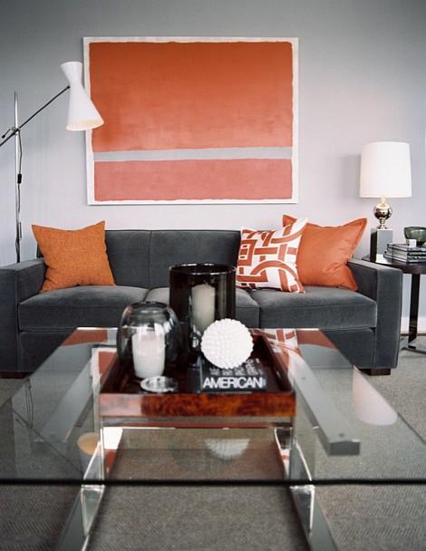gray titanium tangerine living room 15 ideas