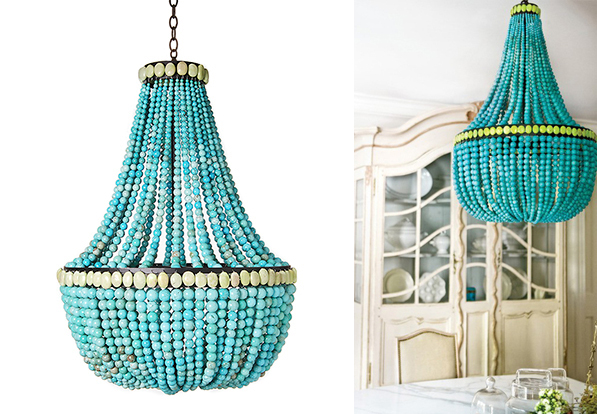 turquoise chandeliers 6 - Turquoise Chandelier Light
