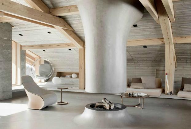 contemporary no ordinar chalet interior design