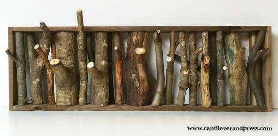 Wall Hooks by Tree Branches 1