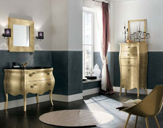 Luxury Black and Gold Bathrooms 8
