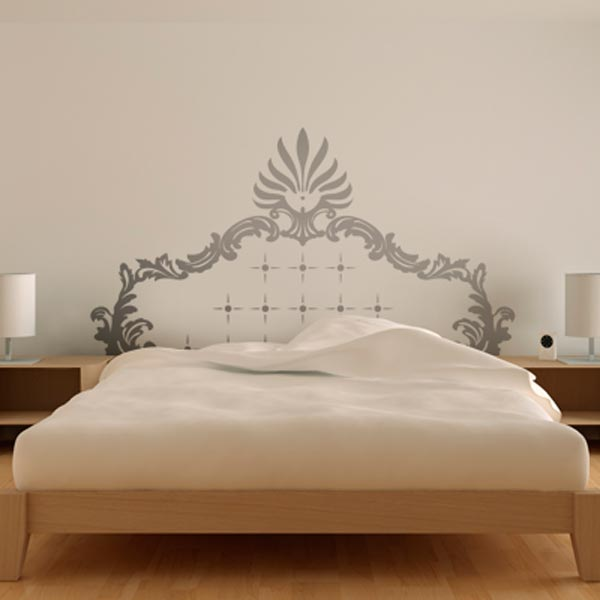 bedroom wall stickers as headboard