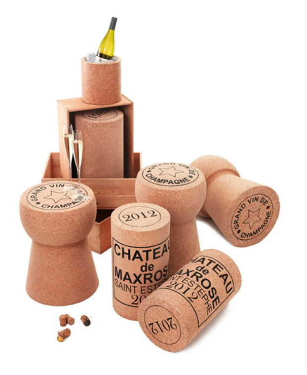 Champagne Cork Stool 6