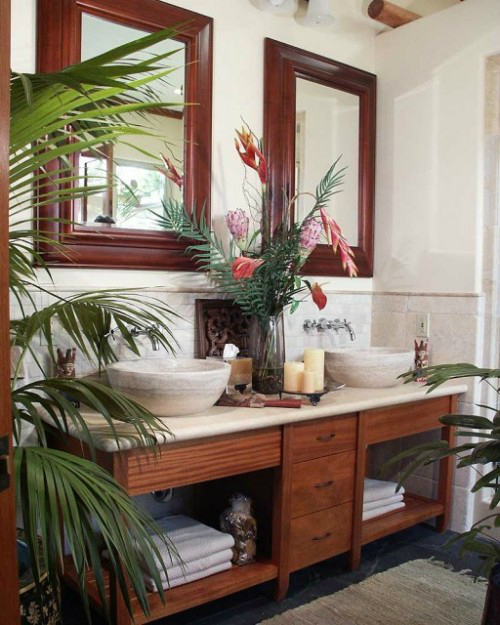 Bathroom with Plants 5