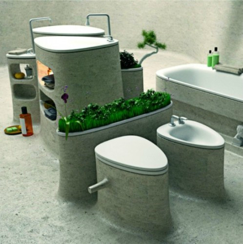 Bathroom with Plants 7