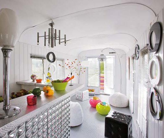 bohemian trailer interior design