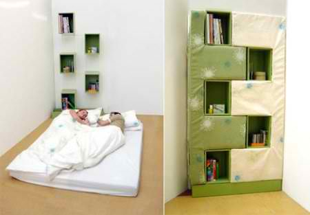 bookcase hidden bed ideas