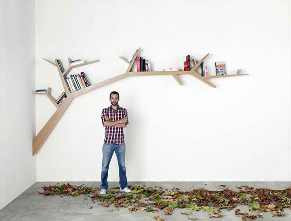 creative branch book shelf by Olivier Dolle