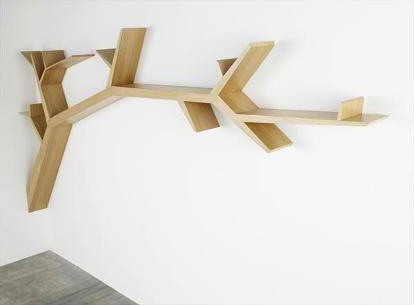 creative branch book shelf by Olivier Dolle 2
