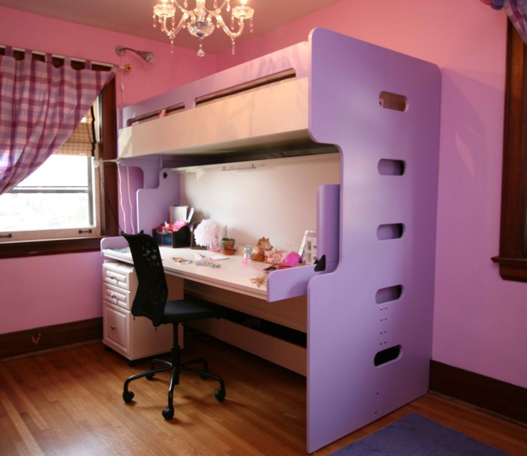 bunk hidden bed office ideas