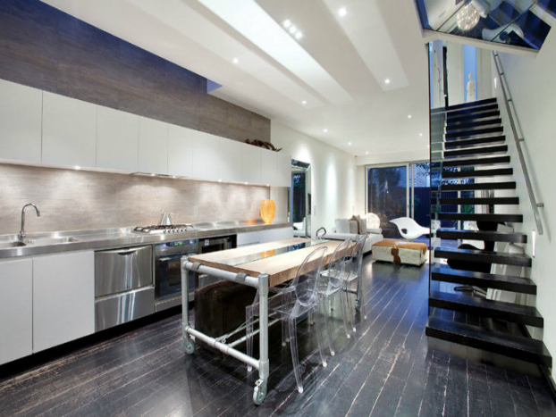 contemporary kitchen House by John Matyas