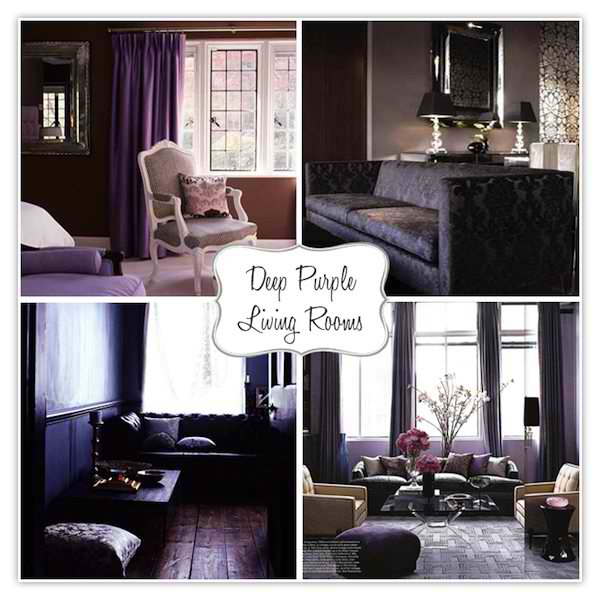 4 deep purple living rooms ideas
