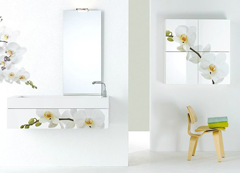 contemporary  Floral Bathrom Design Ideas