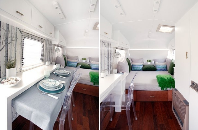 trailer with fresh modern interior design