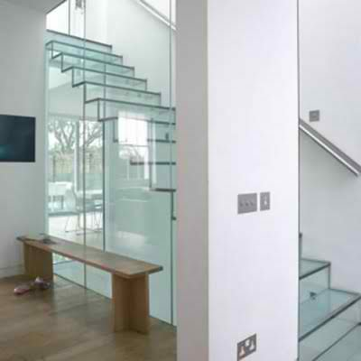 Glass stairs design ideas