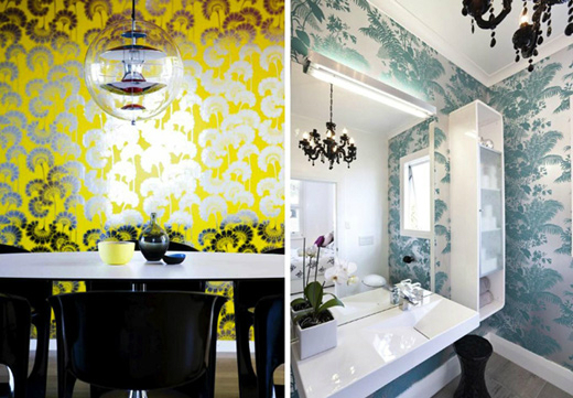 japanese  Floral Bathrom Design Ideas