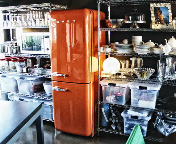 ideas for kitchens with orange smeg
