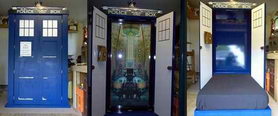 police box hidden bed ideas
